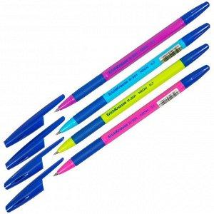 "Ручка шариковая Erich Krause ""R-301 Neon"" синяя, 0,7мм, грип, корпус ассорти"
