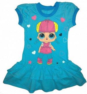 Платье Куколка Бирюзовый(Бирюзовый)