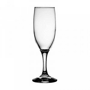 """""""Бистро (Bistro)"""" Бокал стеклянный 190мл, д5см, h19см, для шампанского, набор 6шт, цветная коробка, Pasabahce (Россия)"""