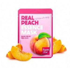 Тканевая маска с персиком FarmStay Real Peach