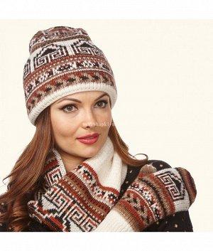 Пятиклинка-колпак тройка Комплект (шапка+шарф+варежки)