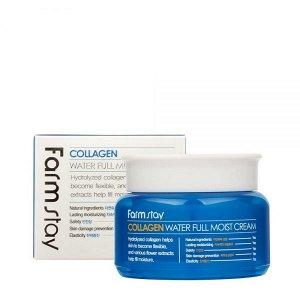 Farm Stay Collagen Water Full Moist Cream 100g - Крем на основе коллагена для придания эластичности 100г