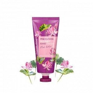 Farmstay Pink Flower Blooming Hand Cream Крем для рук с цветком лотоса 100 мл