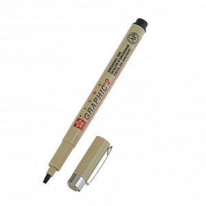 Ручка капиллярная для графических работ и каллиграфии Sakura Pigma Graphic 2 чёрный 2.0 мм