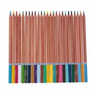 """Карандаши акварельные набор 48 цветов, ЗХК """"Белые ночи"""", в картонной коробке"""