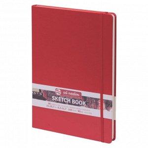 Блокнот для рисунков А4, 80 листов Royal Talens, 140 г/м?, твёрдая обложка, красный