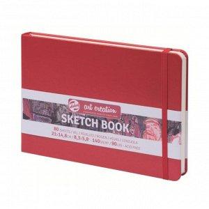 Блокнот для рисунков А5, 80 листов Royal Talens, 140 г/м?, твёрдая обложка, красный пейзаж