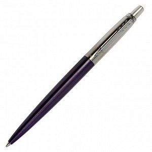 Ручка шариковая Parker Jotter Core Victoria Violet CT M, корпус фиолетовый глянцевый/ хром, синие чернила (1953190)