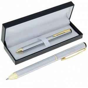 Ручка шариковая, подарочная, в кожзам футляре, поворотная, «Конус»