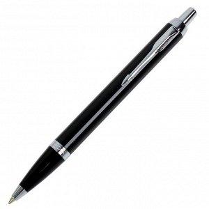 Ручка шариковая Parker IM Core Black CT M, корпус чёрный матовый/ хром, синие чернила (1931665)