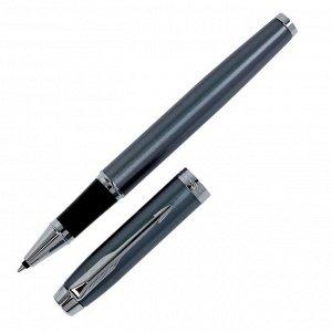 Ручка роллер Parker IM Core Light Blue Grey CT F, корпус серый матовый/ хром, чёрные чернила (1931662)