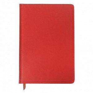 Ежедневник полудатированный, А5, 193 листа, в линейку, золотой срез, перфорированный угол, карта, ляссе, обложка из пвх, красный