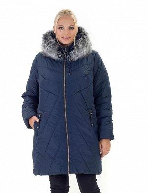 Женская зимняя куртка с мехом Харьков Код: 138синий. Мех