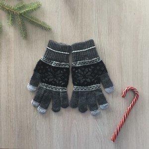 Перчатки женские, цвет серый, размер 18