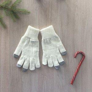 Перчатки женские, цвет белый, размер 18