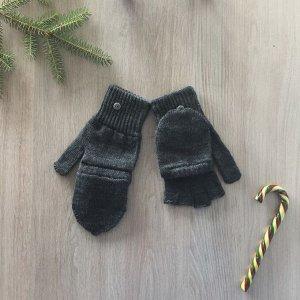 Перчатки (Митенки) женские, цвет серый, размер 18