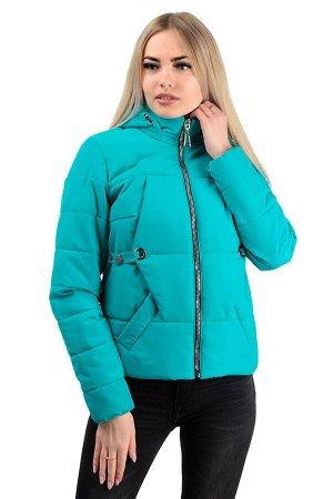 Демисезонная куртка «Каисса»,р-ры 42-50, №229 бирюза