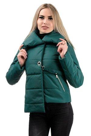 Демисезонная куртка «Далия»,р-ры 42-48, №234 т.зеленый