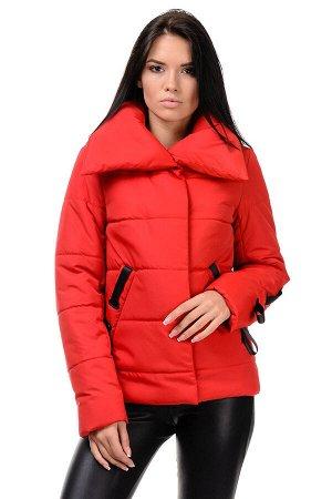 Демисезонная куртка «Люси», 42-48, арт.254 красный