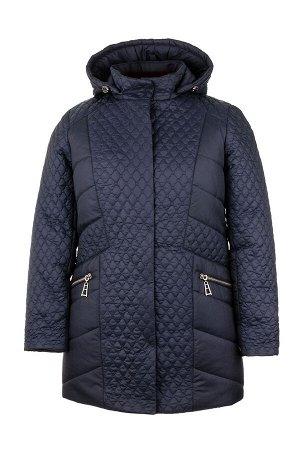Куртка зимняя «Урсула», р-ры 50-58, №216 т.синий