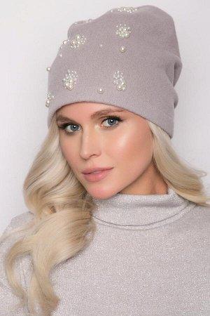 Красивая шапка 100% шерсть