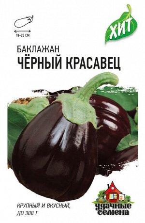 Баклажан Черный красавец 0,3 г ХИТ х3