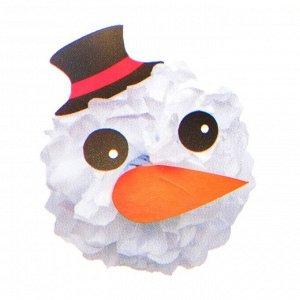Набор для создания новогодней подвески из бумаги «Снеговичок»