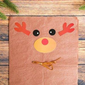 Набор для создания новогодней подвески из бумаги «Олень»