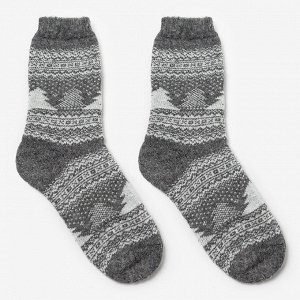 Носки мужские шерстяные «Зима», цвет лён, размер 29