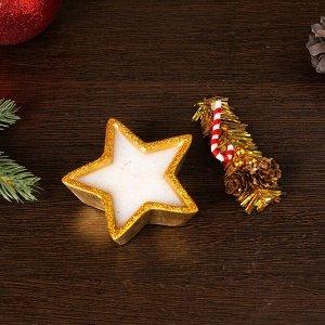 """Свеча """"Новогодняя звезда"""", золотой"""