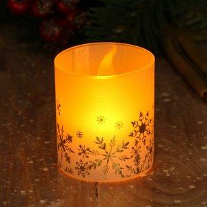 Электронная свеча «Снежинки», 5 х 5,7 см