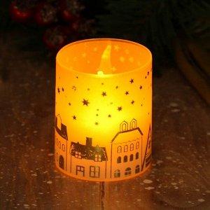 Электронная свеча «Домики», 5 х 5,7 см