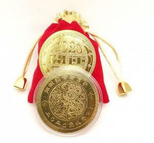 Счастливая монета в мешочке  год крысы арт 1