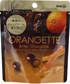 MEIJI Orangette Bitter Chocolate - конфеты из горького шоколада с апельсиновой цедрой