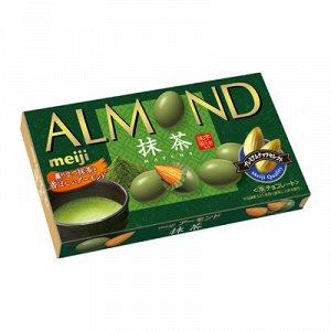MEIJI Almond Matcha - миндаль в шоколаде маття