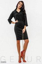 Черная юбка с молнией