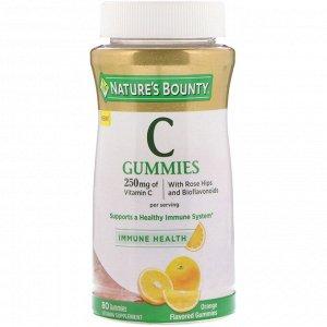 Nature&#x27 - s Bounty, Vitamin C Gummies, Orange Flavored, 250 mg, 80 Gummies