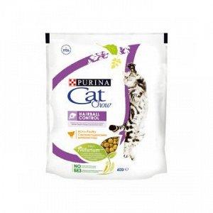 Cat Chow Hairball Control сухой корм для кошек Контроль комочков шерсти 400грАКЦИЯ!