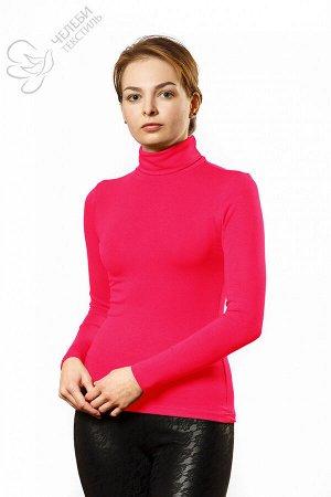"""водолазка Водолазка женская с воротником - """"стойка высокая"""" и длинным рукавом. Выполнена из гладкокрашенной ткани. Состав ткани: 95% вискоза, 5% лайкра. Плотность — 330 г/м2"""