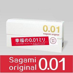 Okamoto Sagami original Ультратонкие презервативы 0.01 ( 5 шт в упаковке)
