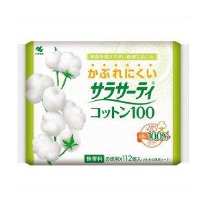 Ежедневные гигиенические прокладки 100% хлопок, 112 шт