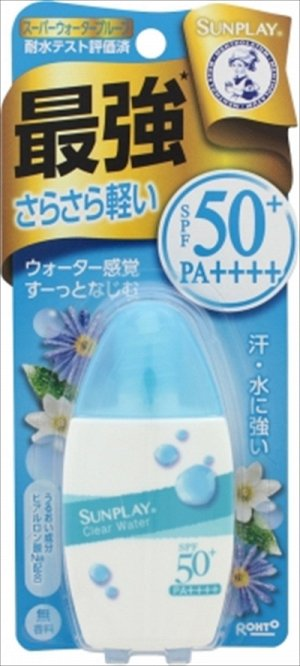 ROHTO SUNPLAY CLEAR WATER Солнцезащитное молочко с защитой 50+