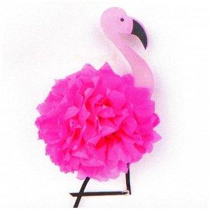 Набор для создания подвески из фетра и бумаги «Розовый фламинго»