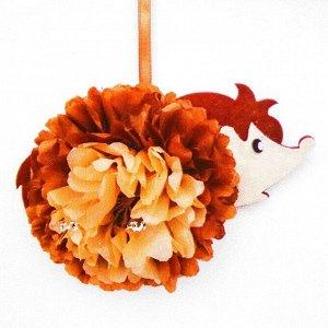 Набор для создания подвески из фетра и бумаги «Ёжик»
