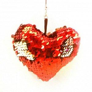 Набор для создания подвески из ткани «Сердечко», с пайетками
