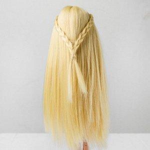 Волосы для кукол «Прямые с косичками» размер маленький, цвет 613
