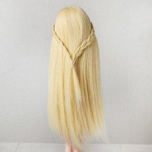 Волосы для кукол «Прямые с косичками» размер маленький, цвет 613А