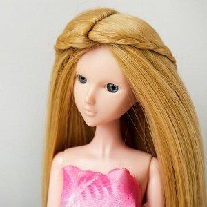 Волосы для кукол «Прямые с косичками» размер маленький, цвет 86