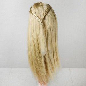 Волосы для кукол «Прямые с косичками» размер маленький, цвет 88