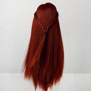 Волосы для кукол «Прямые с косичками» размер маленький, цвет 350